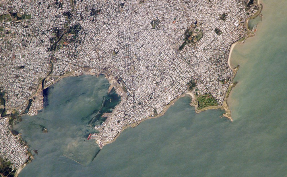 Montevideo viewed from the sky